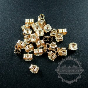10pcs 3.8x4.6mm 14K gold filled high quality color not tarnished DIY earrings back jewelry supplies findings 1705046