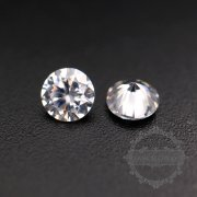 50pcs 2mm round cubic zirconia culet cabochon synthetic gems zirconia stone in diamond color DIY supplies 4110151--1