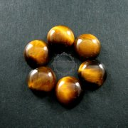 6pcs 10mm tiger eye round cabochon jewelry ring earrings findings supplies 4110078