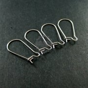 12pcs 13x25mm 316L stainless steel kidney earrings hoop DIY jewelry findings supplies 1702054