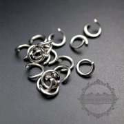 100pcs 1x6mm 18gauge stainless steel rhodium color single open jumpring DIY jewelry supplies findings 1544009