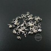 10Pcs 3*6MM 925 Solid Sterling Silver Pendant Charm Bail For Pearl DIY Supplies Jewelry Necklace Findings 1532013