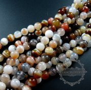 1 string 10mm random color strip agate round loose beads DIY jewelry findings supplies 3110171