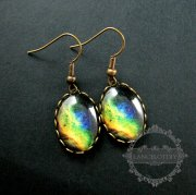 1pair 13x43mm sparkling galaxy collage cabochon chandelier fashion dangle earrings jewelry 675012502