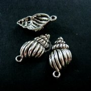 10pcs 14x23mm vintage antiqued silver sea shell pendant charm DIY jewelry supplies 1830013