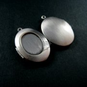 5pcs 13x18mm oval bezel tray setting vintage antiqued brass silver photo locket pendant charm DIY supplies 1123012