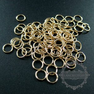 20pcs 20.5gauge 0.76x6mm 14K gold filled high quality color not tarnished single jump ring DIY jewelry supplies findings jumpring 1545011