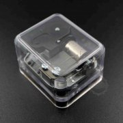1pcs KIMIWO NOSETE 60x50x40mm acrylic box with 50x39mm bezel mini DIY 18 tones music box movement toy gift craft supplies 1502070