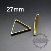 20pcs 27mm raw brass triangle frame with two holes for DIY beading pendant charm supplies 1800287-2
