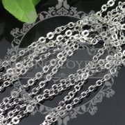 5meters 3*4mm DIY Brass Plated Rodiumn Color European Antique Style Cross Chain for Necklace Bracelet Earring Jewelry