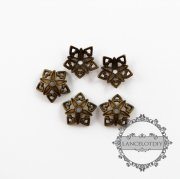100pcs 9mm vintage style antiqued bronze color filigree star beads cap DIY jewelry supplies findings flower cap 1561016
