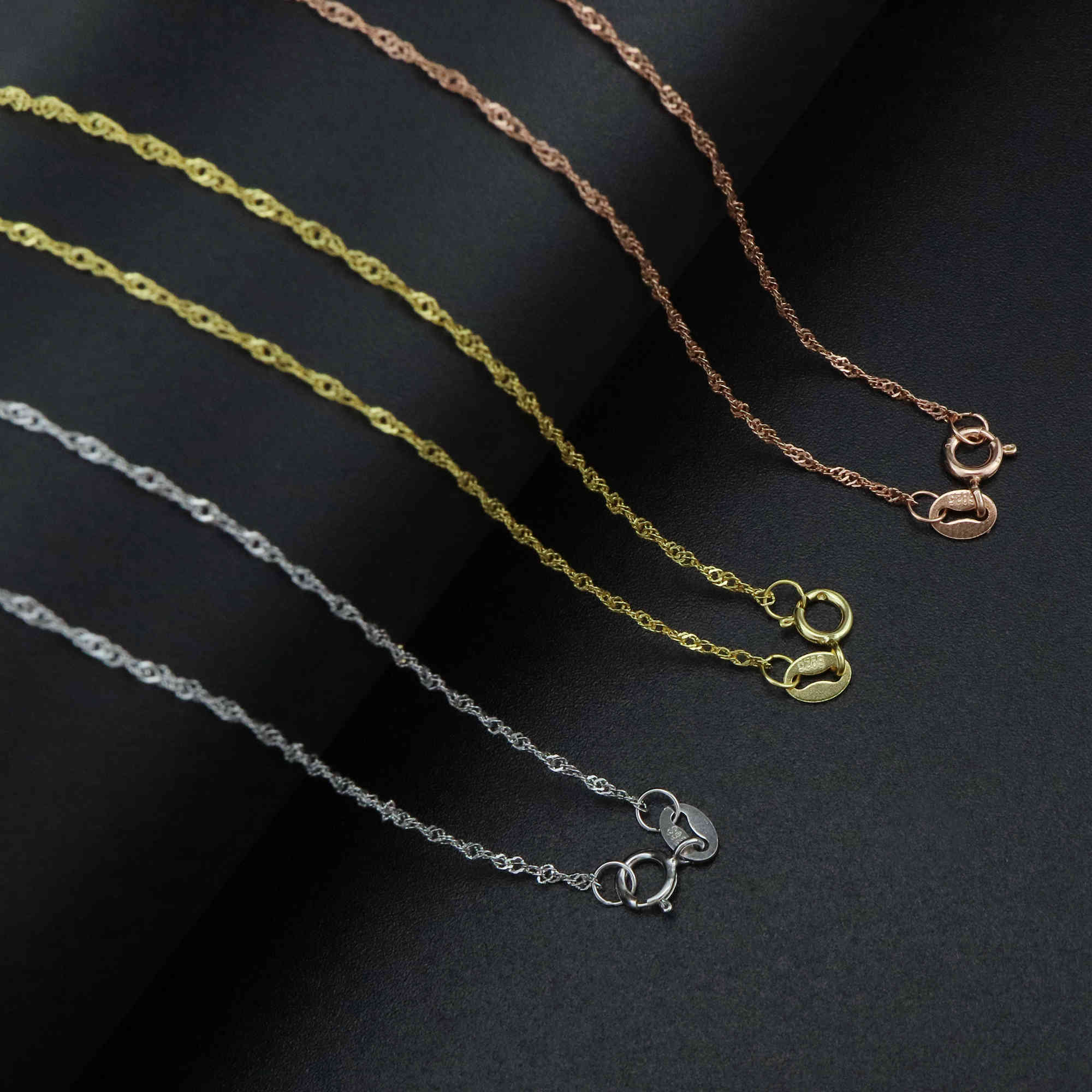 Chain Rose gold thick in Sterling Silver