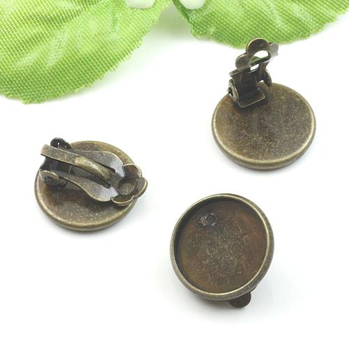 10pcs 14mm Vintage Br Bronze Earrings Stud Base Setting Clasp Jewelry1701005 2