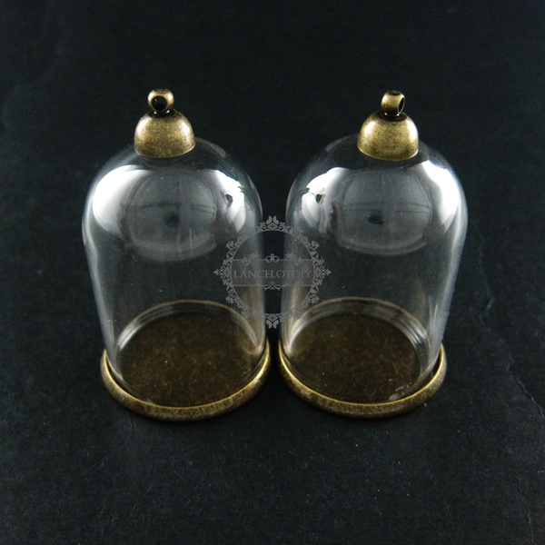 6pcs 25x35mm vintage brass bronze glass tube bottle dome pendant 6pcs 25x35mm vintage brass bronze glass tube bottle dome pendant charm settings jewelry findings supplies 1810414 aloadofball Image collections